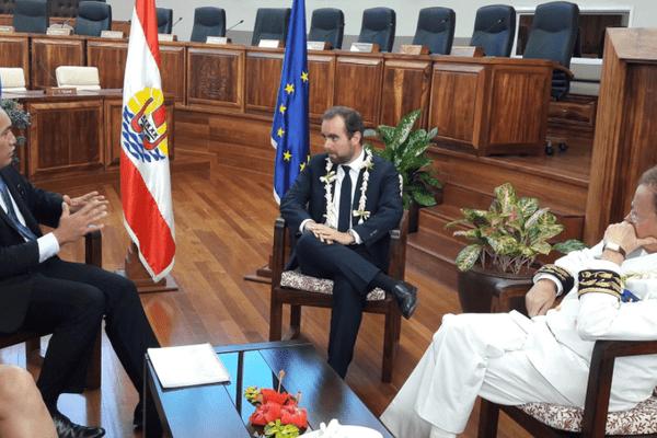 Sébastien Lecornu, Secrétaire d'État à la Transition écologique est a Tahiti