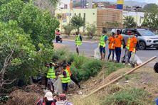 A Mamoudzou, le nettoyage a été fait à la pointe Mahabou et dans la mangrove de Mgombani.