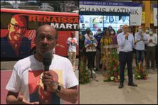 Max Orville (Renaissance Martinique) et Yan Monplaisir (Mi Chans Matinik) sont en campagne.