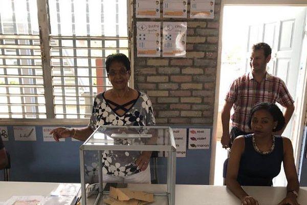 Bureau de vote à St-Laurent-du-Maroni
