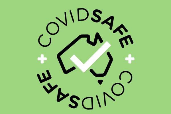 Logo de l'appli australienne COVIDSafe
