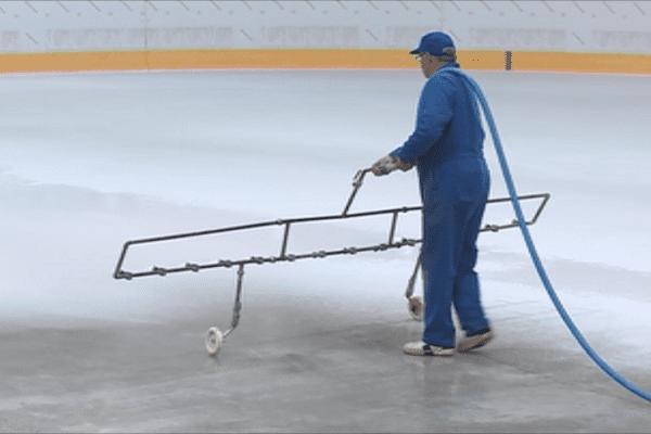 travaux peinture patinoire