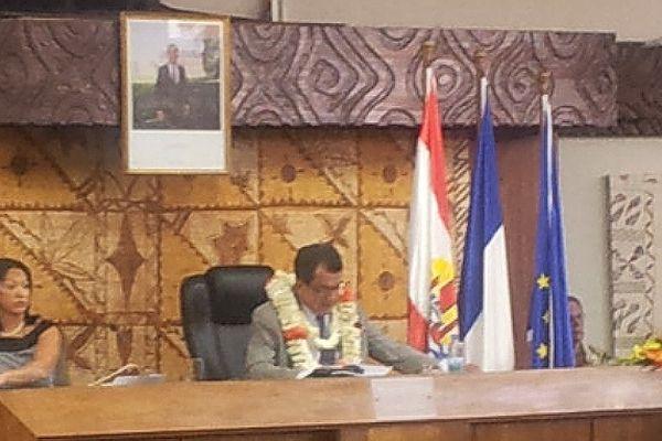 Edouard Fritch, élu président de l'Assemblée de la Polynésie française