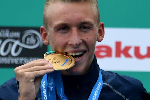 Marc-Antoine Olivier champion du monde 2017 de nage en eau libre sur 5 km