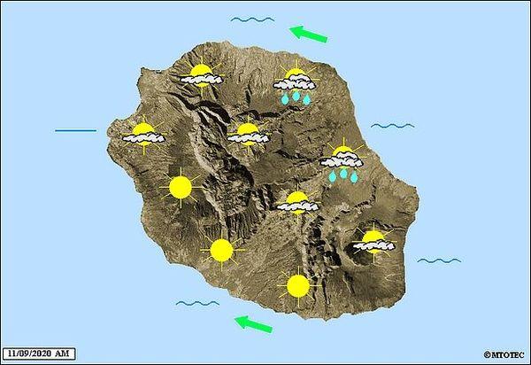 Carte météo 11 septembre 2020