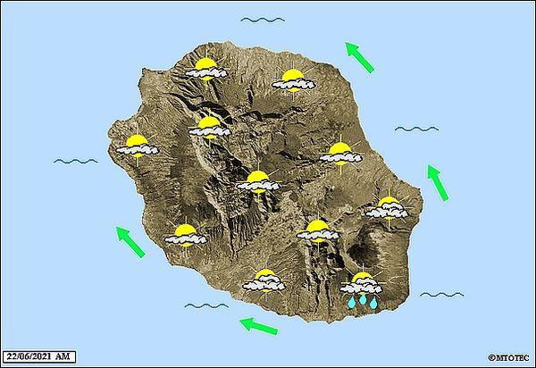 Carte météo 22 juin 2021
