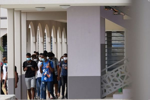 Dans un lycée à La Réunion