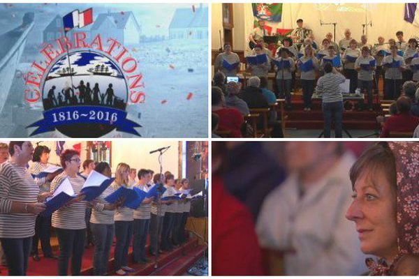 La chorale de Miquelon pendant les fêtes du Bicentenaire