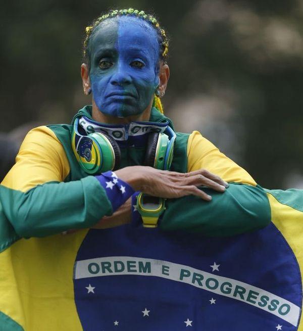 maquillage brésil supporter