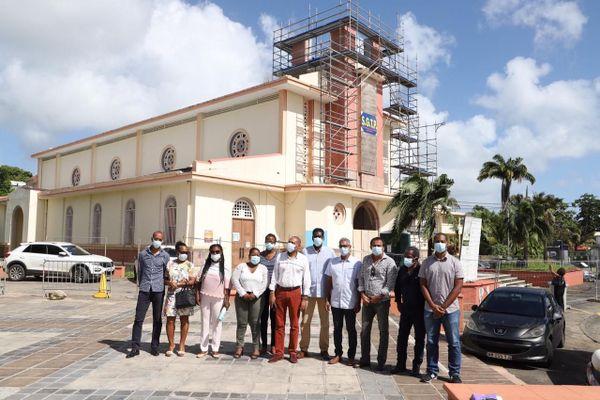 Les travaux de l'église de Sainte-Anne