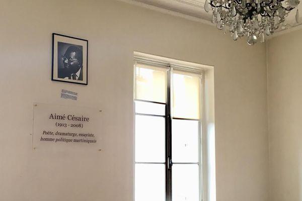 Plaque Aimé Césaire ENS