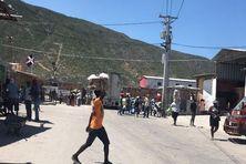 Malpasse/Jimani entre Haïti et la République Dominicaine.