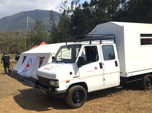 Feu du Mont-Dore centre d'accueil des impliqués de la Croix-Rouge, 4 décembre 2019
