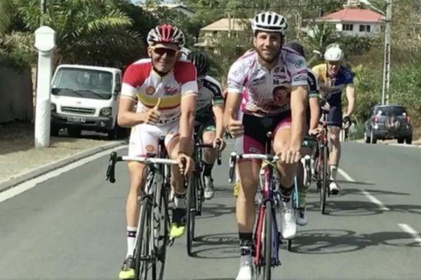 Mathieu Riebel dans le Tour de Calédonie avant son accident mortel (21 octobre 2017)