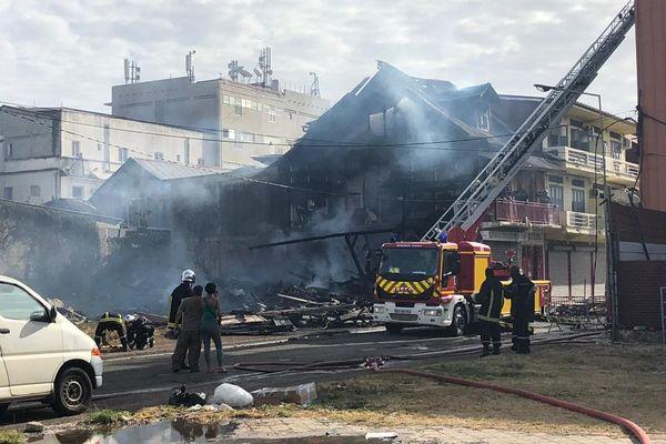 Le foyer de l'incendie de la rue Colomb mars 19