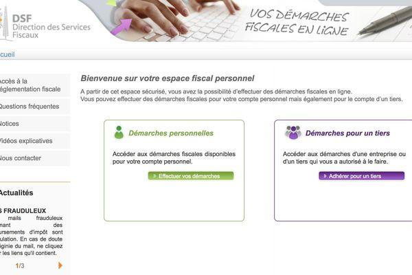 Impôts site internet
