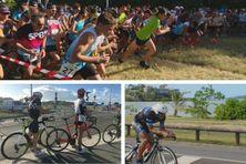 La journée de dimanche a été dédiée aux épreuves de vélo et course à pied.