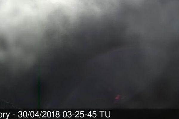Le piton de la Fournaise ce 30 avril 2018
