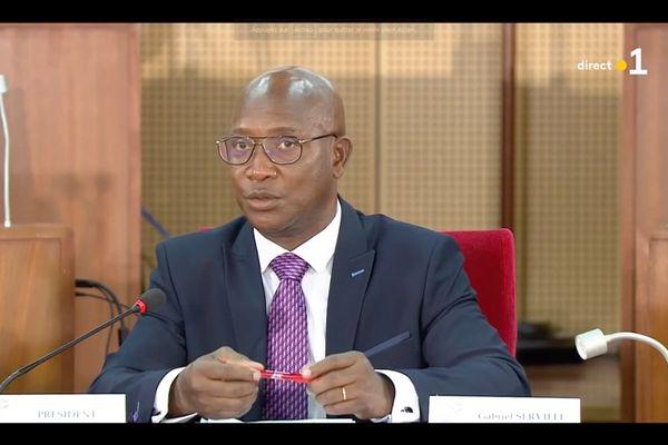 Gabriel Serville, président de la Collectivité territoriale de Guyane