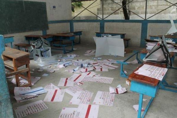 Haïti bureaux de vote saccagés