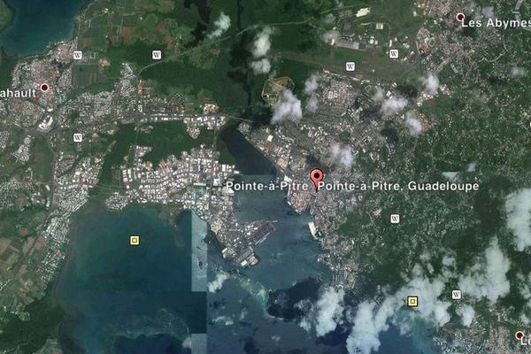 carte satellite Baie-Mahault. les Abymes/ Pointe-à-Pitre