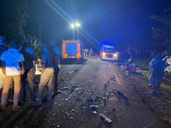 Accident de la route mortel