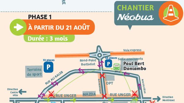 Changement de circulation rue Unger au 21 août