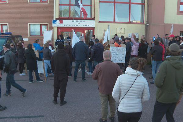 Manifestation Saint-Pierre contre vaccination