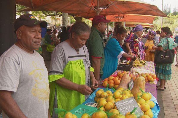 Arbofruit : stand de mandarine de Canala à Nouméa