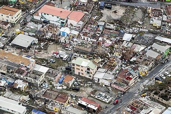 Saint Martin après le passage d'Irma