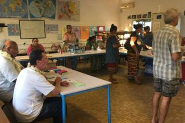 bureau de vote de Mala'efo'ou 2 à 17h