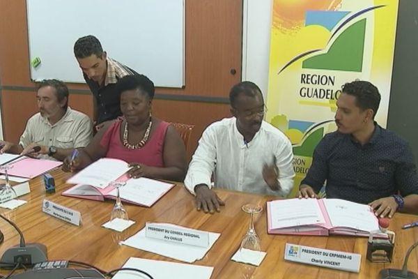 signature convention région secteur pêche
