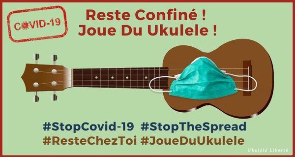 reste confiné joue du ukulele