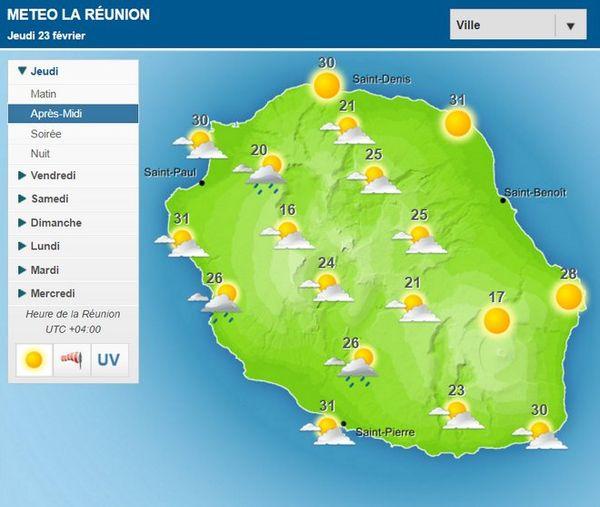 Carte météo 23 février 2017