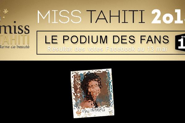 Miss Tahiti 2015 : 1er Podium des fans Polynésie 1ère