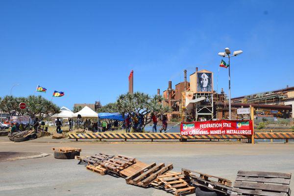 Dossier usine du Sud, accès bloqué à la SLN à Doniambo, 2 décembre 2020
