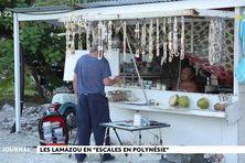 L'escale en Polynésie de Titouan et Zoé Lamazou