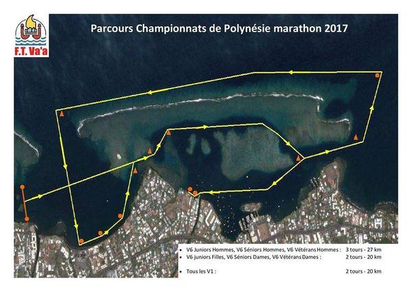 Parcours championnats de Polynésie marathon 2017