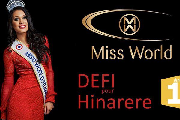 Défi pour Hinarere Taputu - Miss World 2015