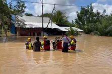 Les pompiers au secours d'habitants du quartier des écoles