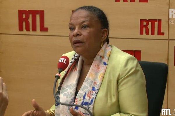 Christiane Taubira invitée ce mercredi 11 mars 2015 sur RTL