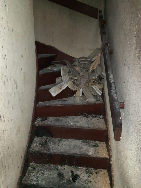 Des blessés dans l'incendie, piégés à l'étage