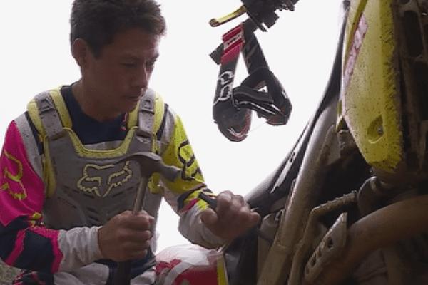 Portrait de Jairus Guilloux, champion de Motocross