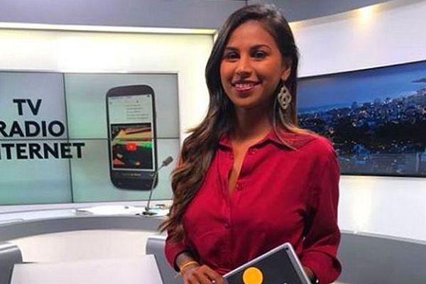Christelle Floricourt présentatrice du JT Réunion la 1ère