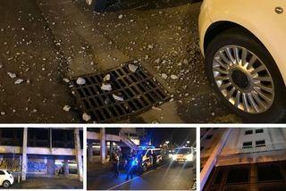 débris hôtel voiture