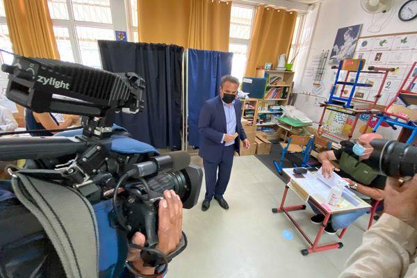 Elections Régionales 2021 Didier Robert a voté à l'école Philippe Vinson à La Montagne