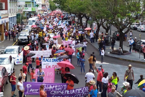 Manifestation intersyndicale contre réforme retraite 20 février 2020