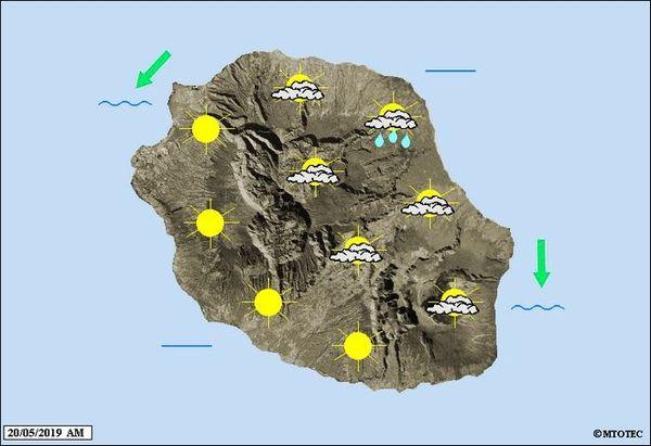 Carte météo 20 mai 2019