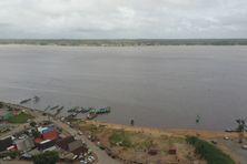 La frontière entre la Guyane et le Surinam