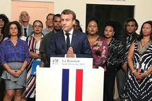 Emmanuel Macron à Saint-Paul, jeudi 24 octobre.